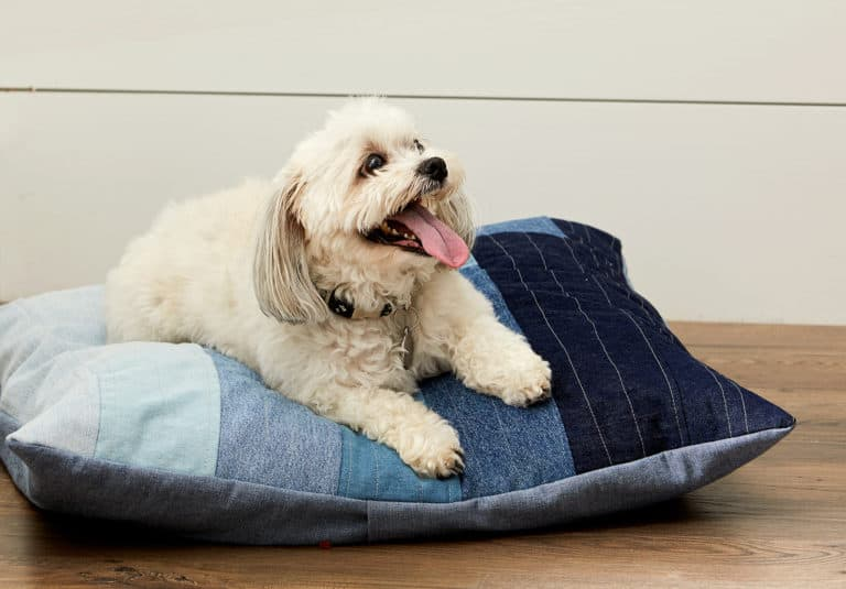 gifts for a dog mom: DIY dog bed