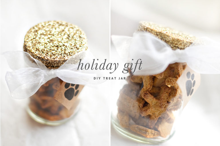 gift for dog moms: diy treat jar