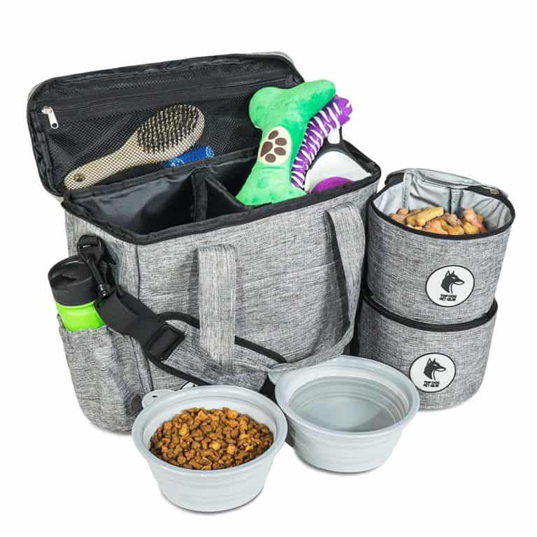practical dog mom gifts: dog travel bag
