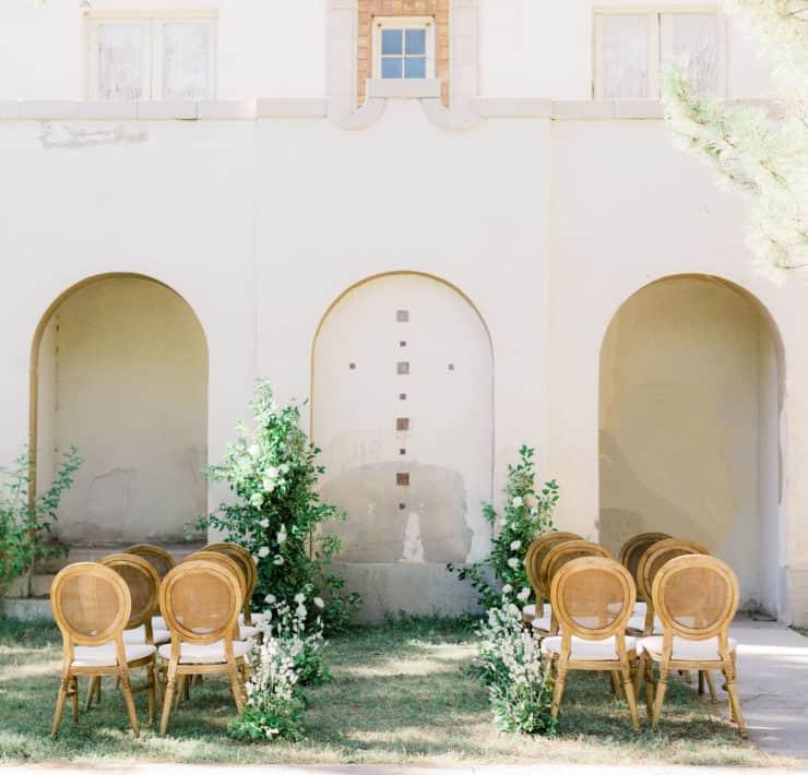 elegant wedding aisle decor idea