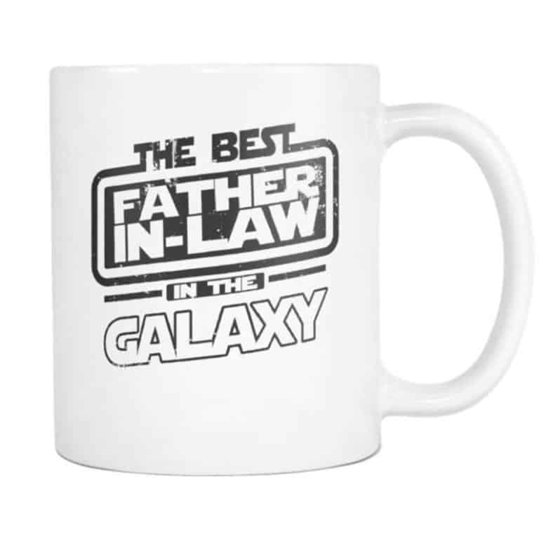 cheap fathers day gifts: the best father-in-law in the galaxy mug