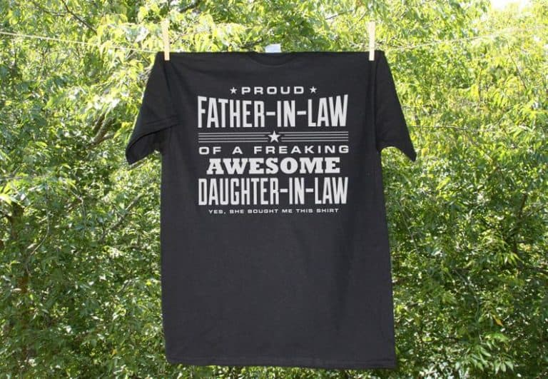 funny gift idea for father in law: father in law t-shirt