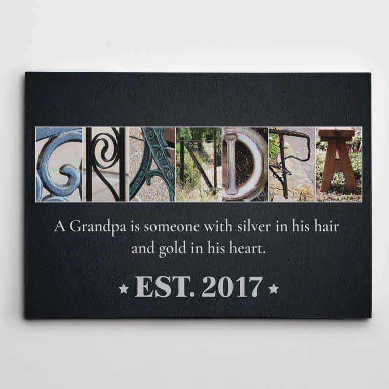 father's day gifts for grandpa - custom letter art