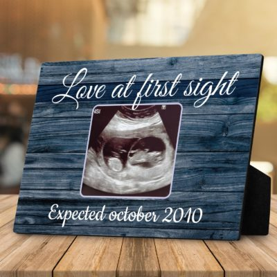 gifts for an expectant father - love at first sight desktop plaque