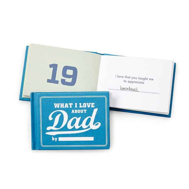 father's day gifts - what i love you about dad by me book