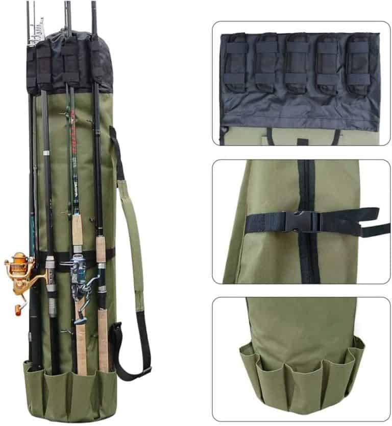 gift for fisherman: fishing rod case