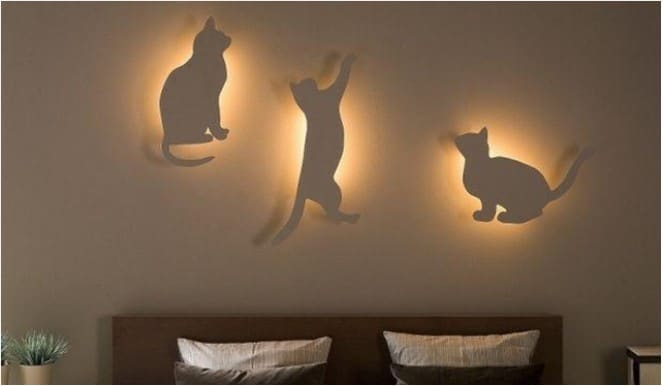 diy cat bedroom lighting