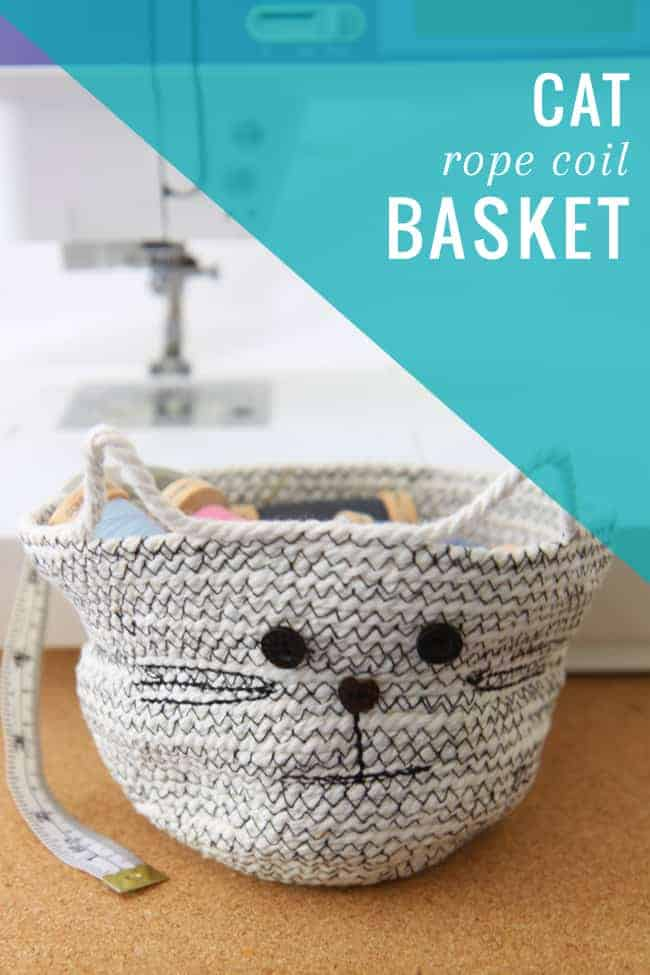 gifts for cat lovers - rope basket