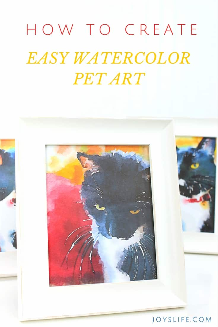 cat lovers easy water color - cat decorations for home