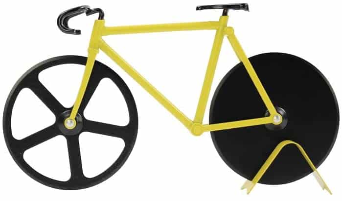 pizza cutter bicycle black yellow