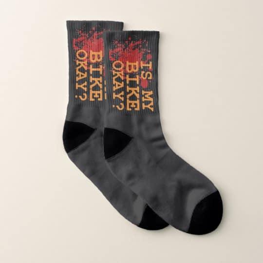 funny socks - mountain biking gifts for him