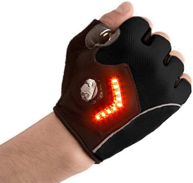 gifts for cyclists - led signal cycling gloves