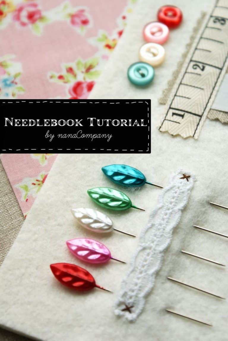gifts for quilters - needle book