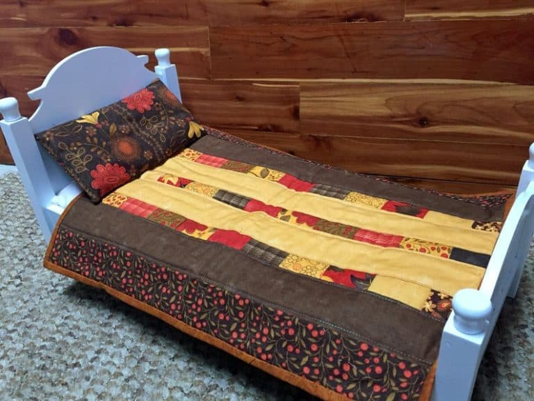 unique gifts for quilters - patchwork doll quilt