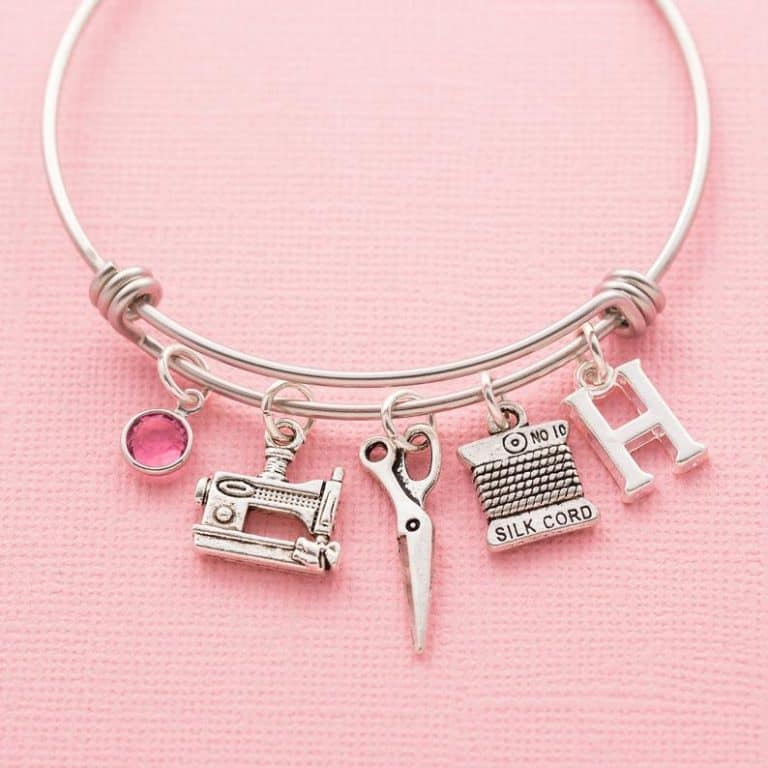 best gifts for quilters - personalized sewing machine charm