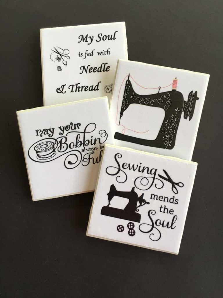 small quilting gifts - sewer coasters