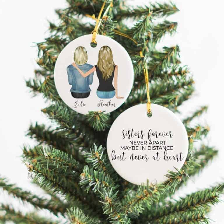 : christmas gifts for sister - christmas ornament