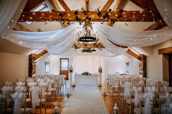 elegant white ceremony decor idea