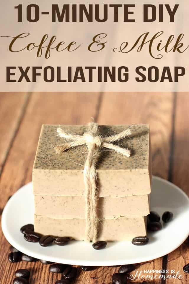 last minute mother's day gifts - coffee milk soap