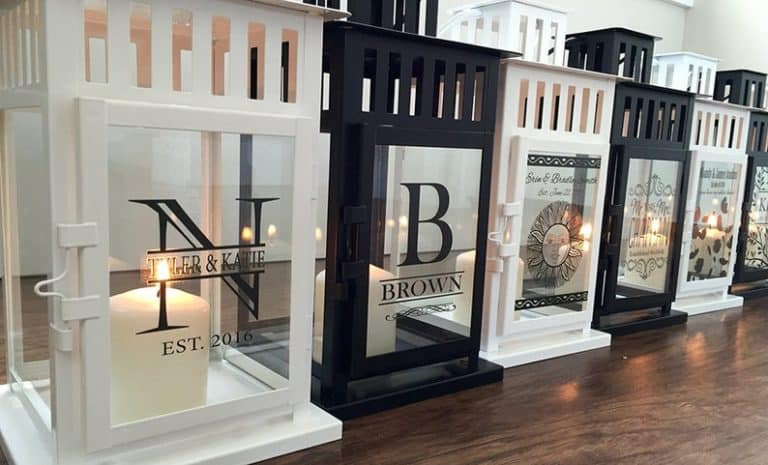 last minute mother's day gifts - personalized lantern home decor