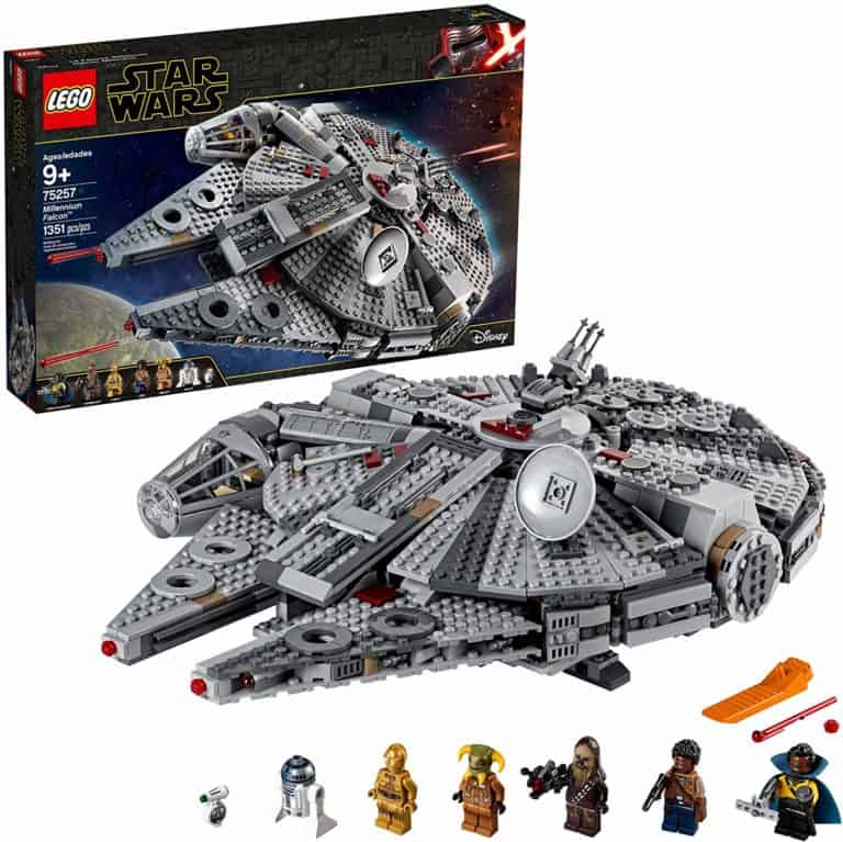 cool star wars toys: lego millennium falcon building kit with mini figures