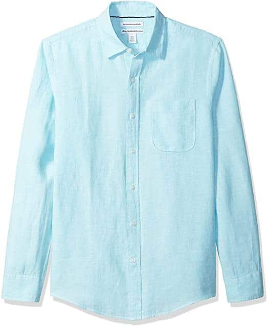 modern 8th anniversary gift for him: linen shirt