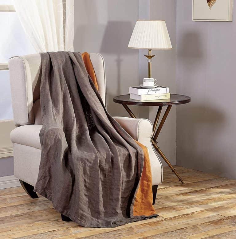 linen gifts for 8th: flex linen throw blanket