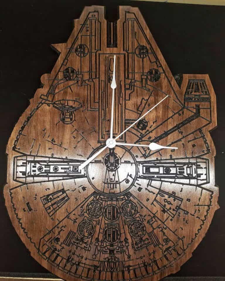 cool star wars gifts: millennium falcon clock