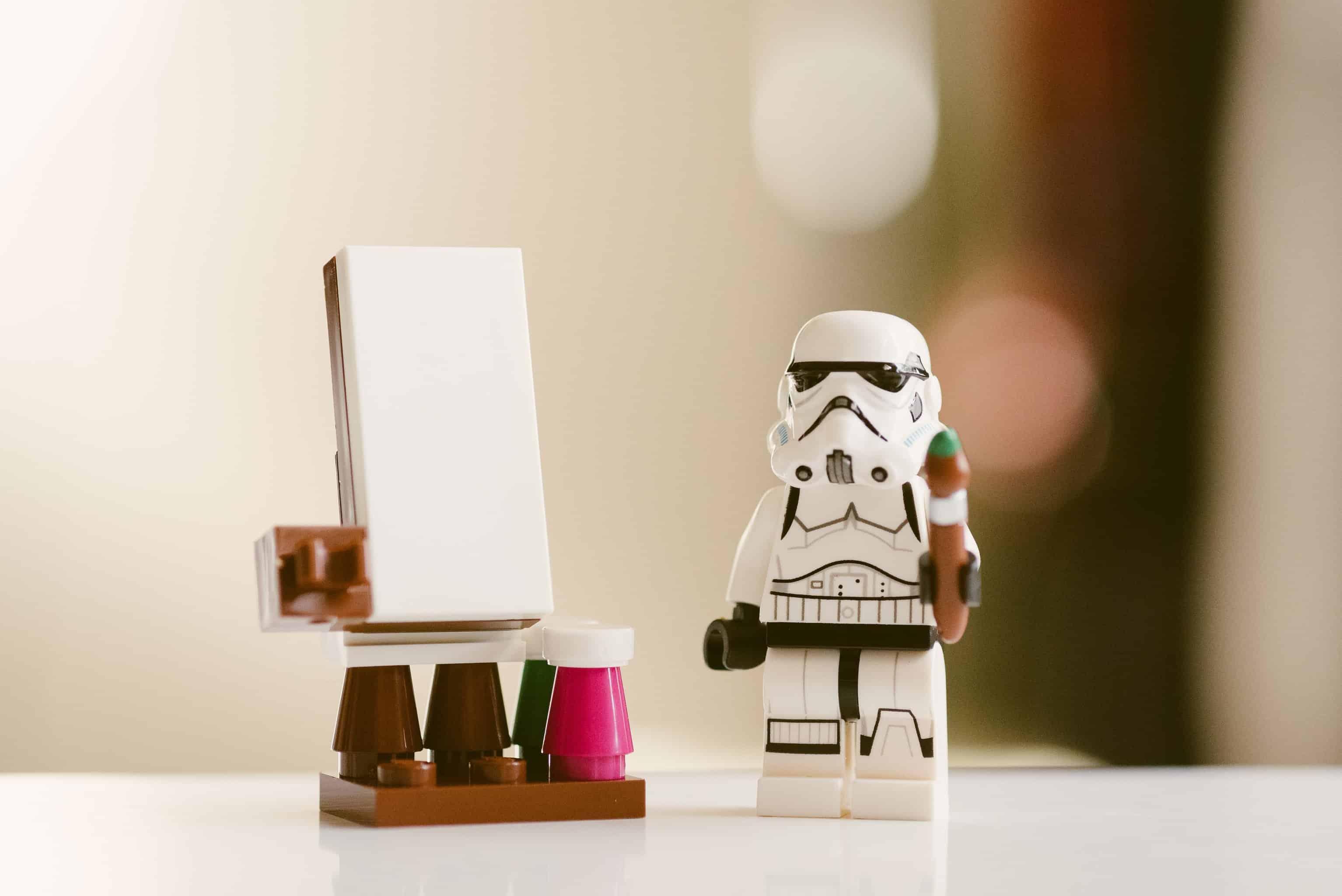 a stormtrooper mini figure