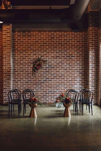 modern & minimalist copper wedding ceremony