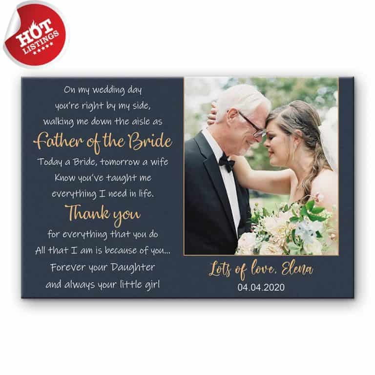 custom father of the bride gift