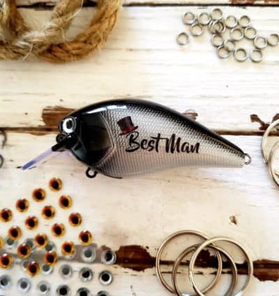 personalized Best Man fishing lure