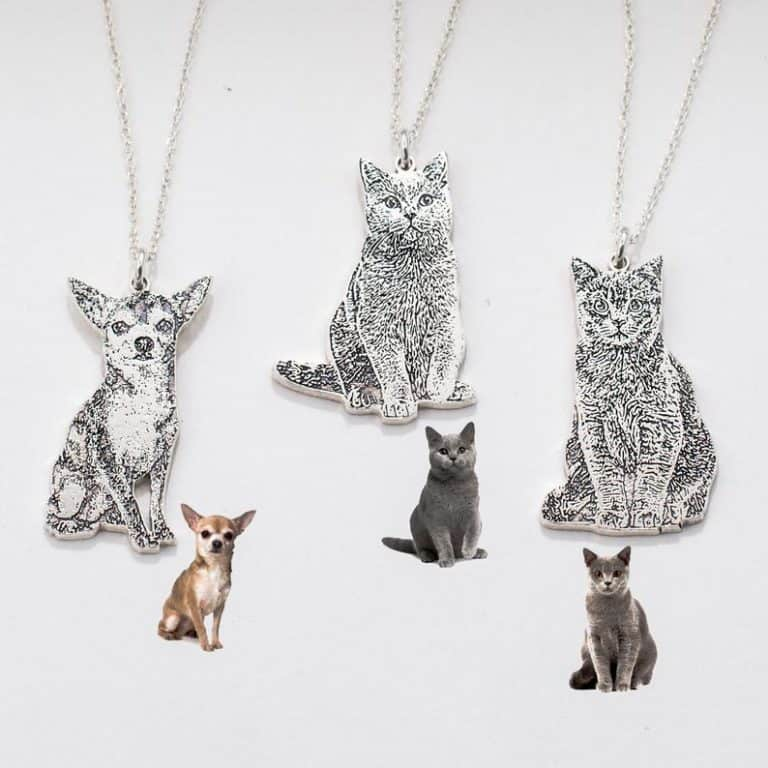 dog mom gifts: pet photo necklace