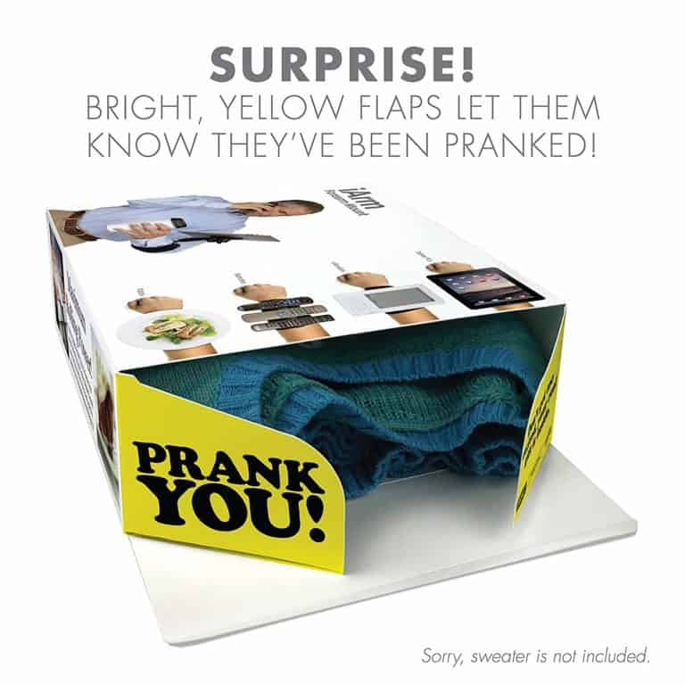 gag gifts for men: iArm prank gift box