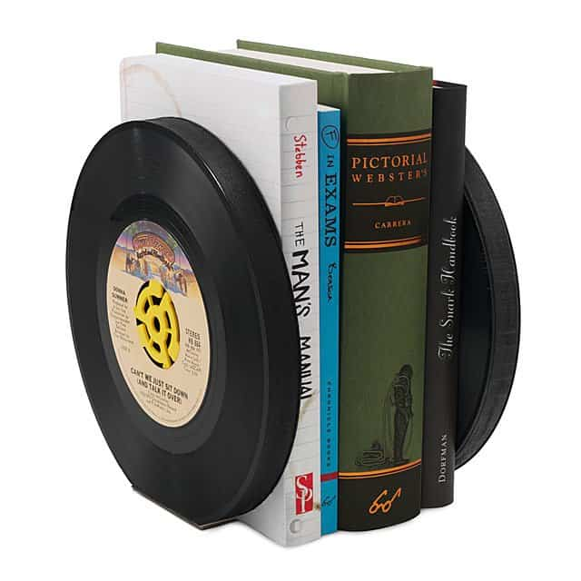 father's day gift ideas: recycled record bookends