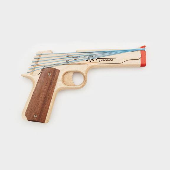 cute gifts for dad: rubber band gun