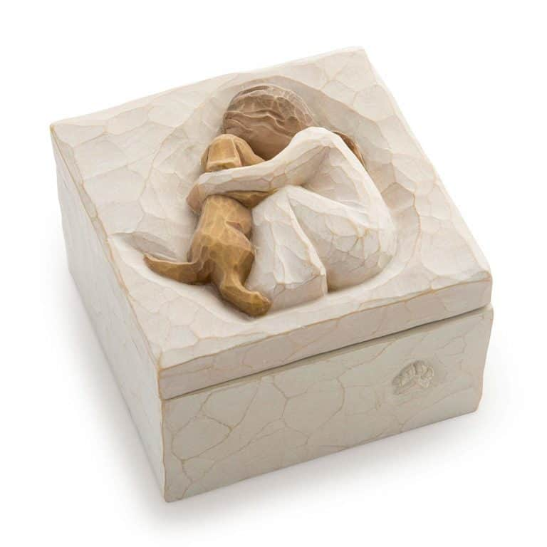 unique gifts for dog lovers: sculpted keepsake box