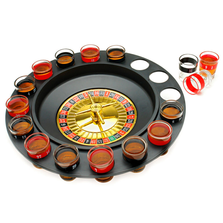 gift ideas for father: shot glass roulette drinking game
