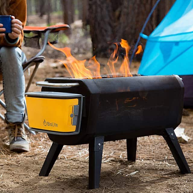 grill gift for men: smokeless portable fire pit and grill