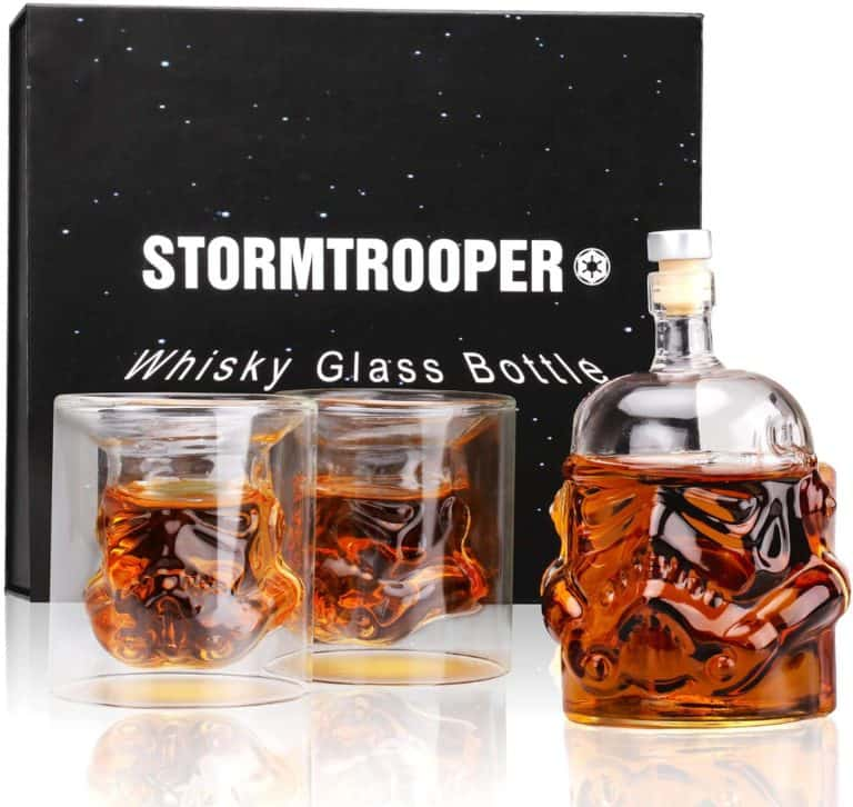 star wars gifts for men: stormtrooper decanter set