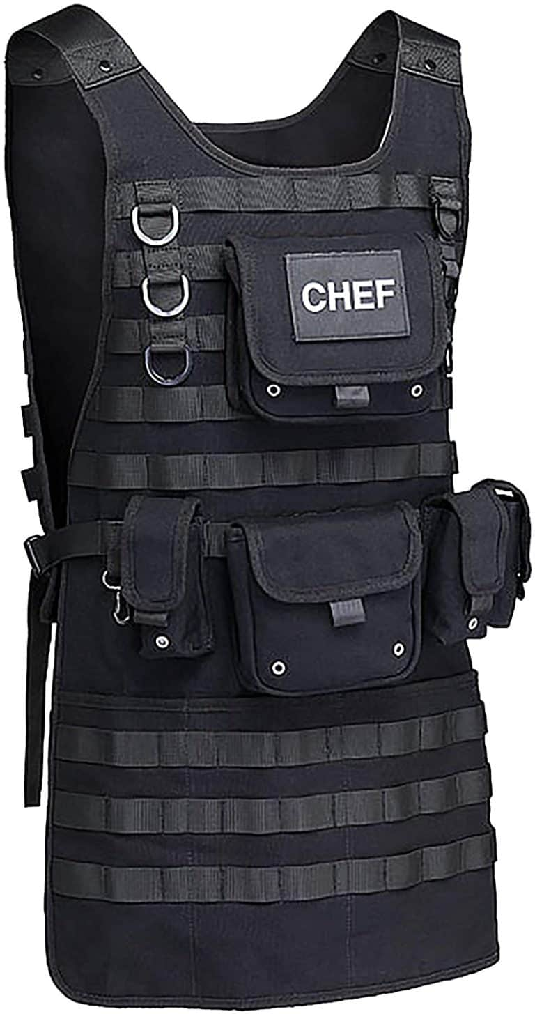 unique grill gifts: tactical molle apron