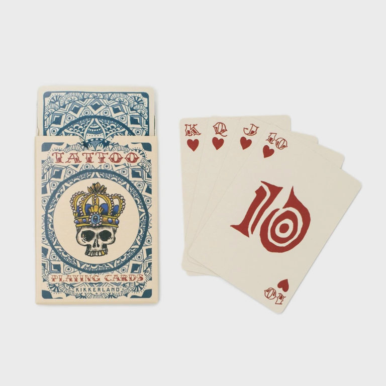 tattoo playing cards - gift for card players