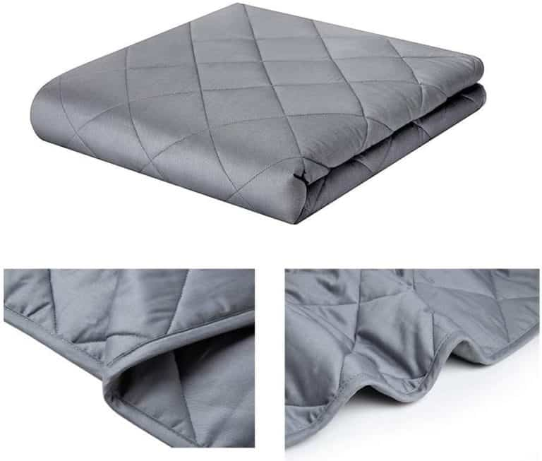 thoughtful gift for dad: weighted blanket