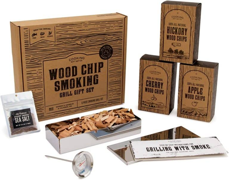 gifts for meat smokers: wood chips gift set
