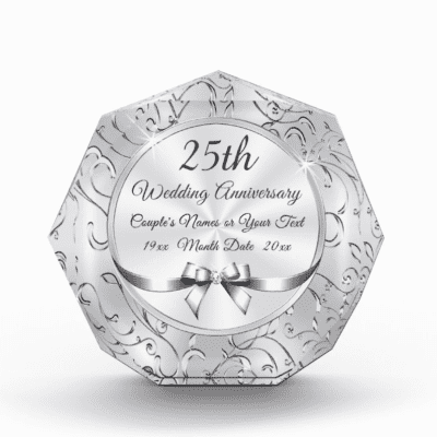 25th wedding anniversary gift - silver plate