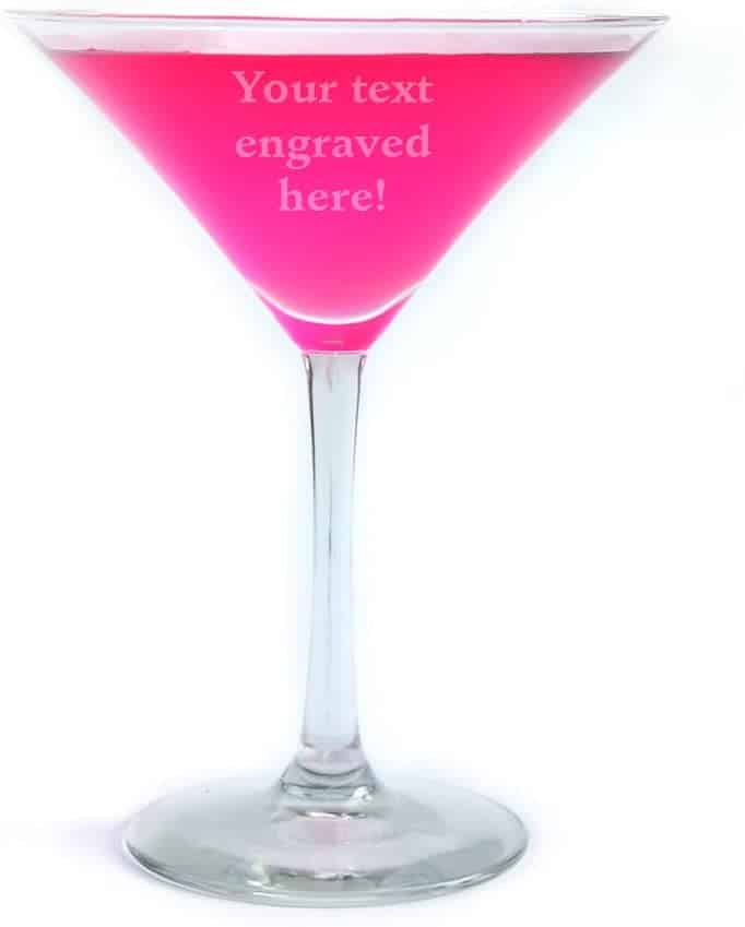 Cocktail Glass Engraved with Your Custom Text