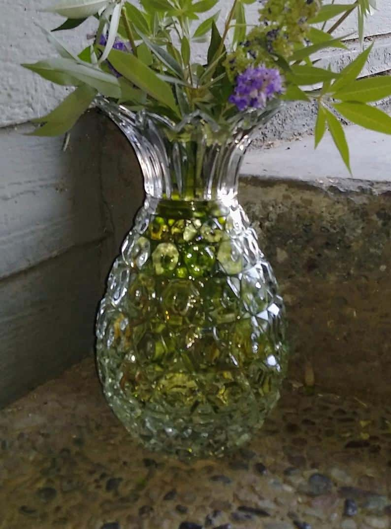 crystal anniversary gifts for her:Crystal Pineapple Vase