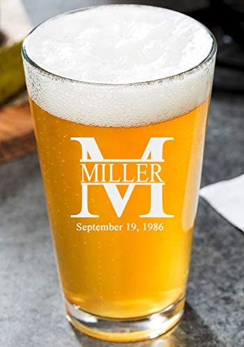 crystal anniversary gifts:Custom Engrave Pint Beer Glass
