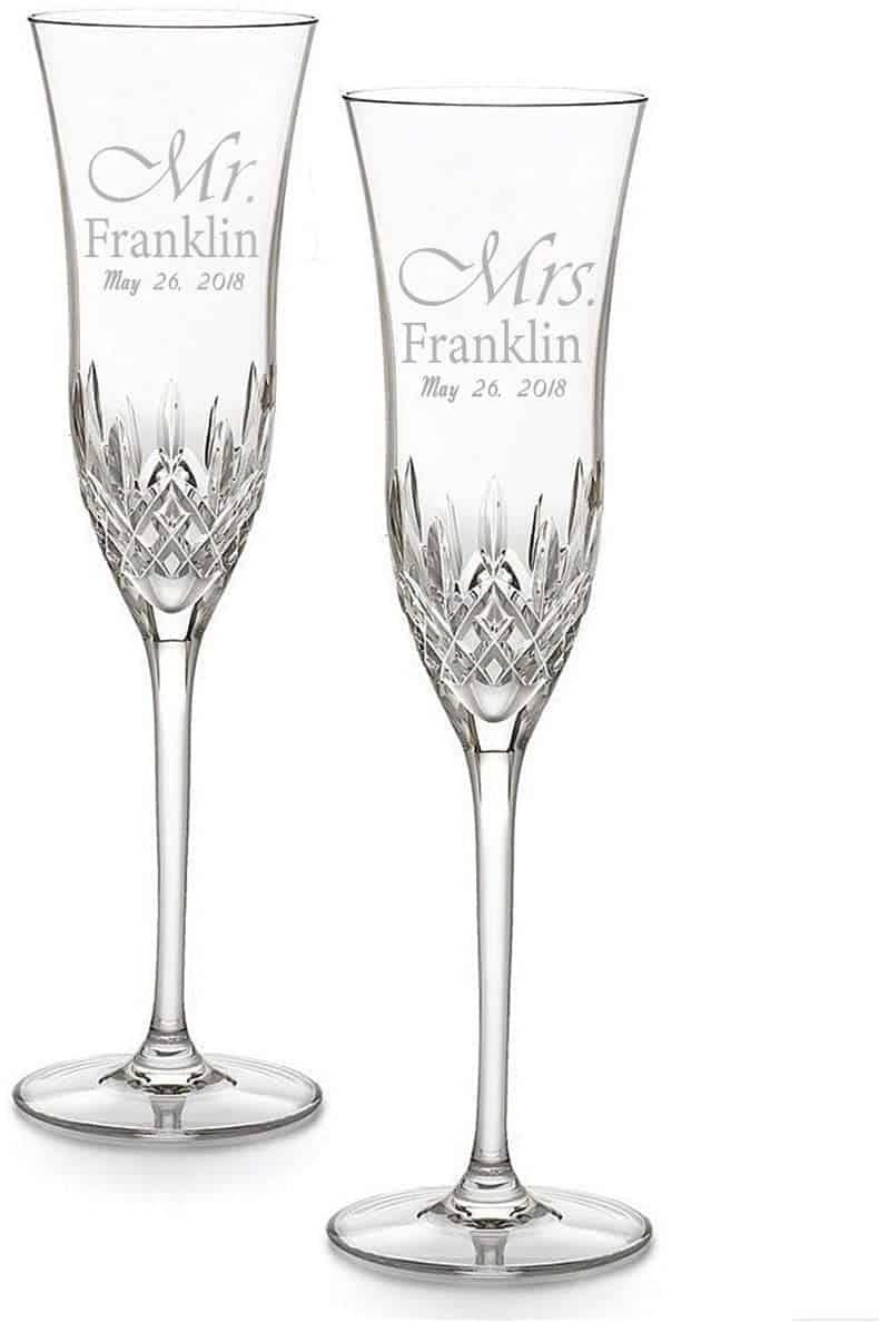 crystal anniversary:Custom Engraved Glasses