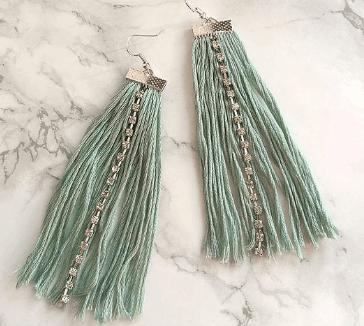 DIY Crystal Tassel Earrings
